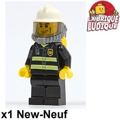 LEGO Figurine Minifig Firefighter Fire Bottle Oxygen Helmet White cty0030 New