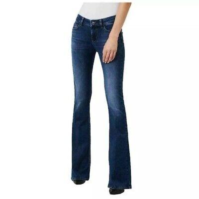 Jeans donna vita alta pantaloni jeggings skinny slim a zampa bootcut nuovi 40/50