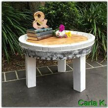 UNIQUE COFFEE OR SIDE TABLE MADE FROM WOODEN BARREL Frenchs Forest Warringah Area Preview