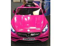 Mercedes S63 In Pink, Parental Remote & Self Drive