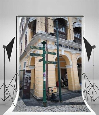 City Road Indicator Vinyl 5x7ft Photography Backgrounds Studio Photo Backdrops