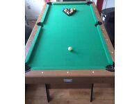 Debut 6ft folding pub style pool table