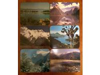 Vintage New Zealand Placemats Set of 6 Retro 60's Table Mat Coasters