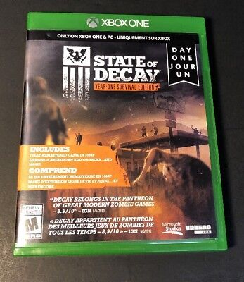 State Of Decay Year One Survival Edition   Day One Edition    Xbox One  Used