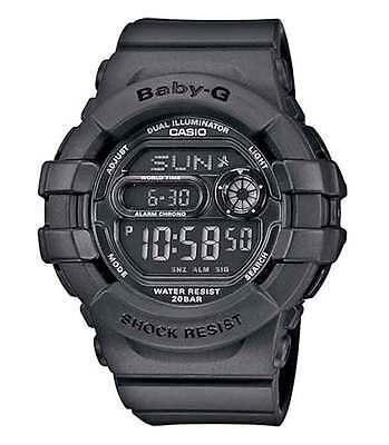Casio Baby-G BGD140-1A Digital Multi-Function Matte Black Ladies Digital Watch