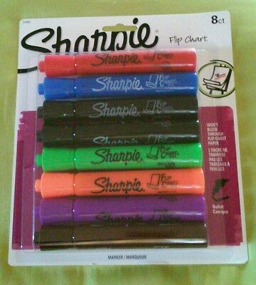 8-pack Sharpie Flip Chart Markers Bullet Tip Low Odor 22480