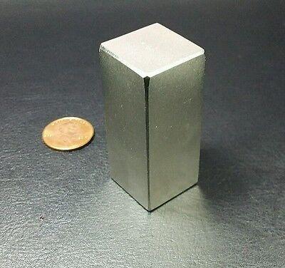 One Huge N52 Neodymium Block Magnet Super Strong Rare Earth 2 Bar Over 5k Gauss