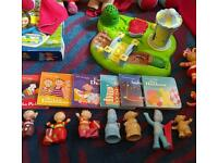 In the night garden playdough figures and books