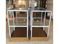 High Quality Brushed Chrome & Glass Shop Fittings and Bespoke Display Units from Designer Boutique