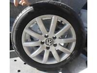 SET OF FOUR GENUINE VOLKSWAGEN ALLOY WHEELS 205 55 16 s OF 2010 GOLF NEWRY/ARMAGH