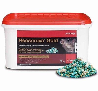 NEOSOREXA GOLD PROFESSIONAL RAT BAIT RAT POISON MOUSE BAIT 6 KG  FREE GLOVES