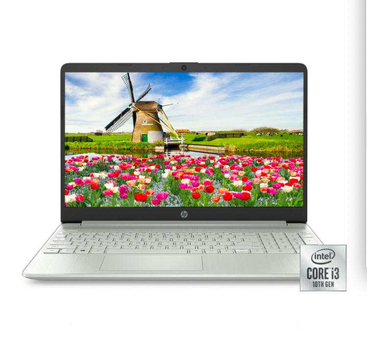"NEW HP 15.6"" HD Intel 10th Gen i3-1005G1 3.4GHz 4GB RAM 128G"