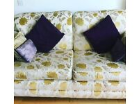 THREE SEATER SOFA AND TWO MATCHING CHAIRS