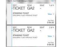 2 x Trnsmt tickets - VIP Saturday & sunday