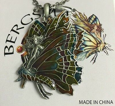 Chrysalis Butterfly Fairy Necklace - Faery Pendant - Amy Brown Jewelry NEW