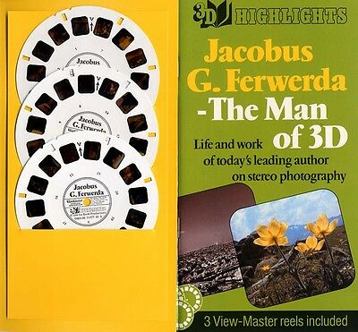 Jacobus G. Ferwerda The Man of 3-D Custom-made View-Master 3-Reel Packet Mint