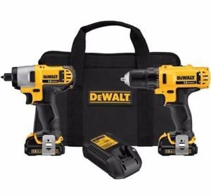 Dewalt combo impact + drill 12v kit complet NEUF new