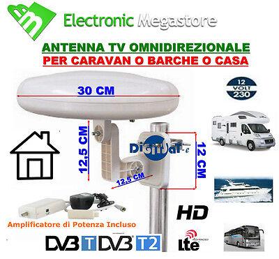 ANTENNA TV NAUTICA PER BARCA O CAMPER DIGITALE TERRESTRE 1212309 ELCART
