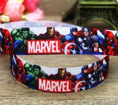 "Spider-Man Superhero 1/"" Wide Repeat Ribbon Sold in Yard Lots"