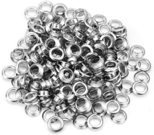 Silver Plated Paper Bead Cores, Bead Eyelets, Bead Grommets, Fits 5mm Bead Hole