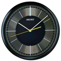 *BRAND NEW* Seiko Round Black Dial Wall Clock QXA612KLH