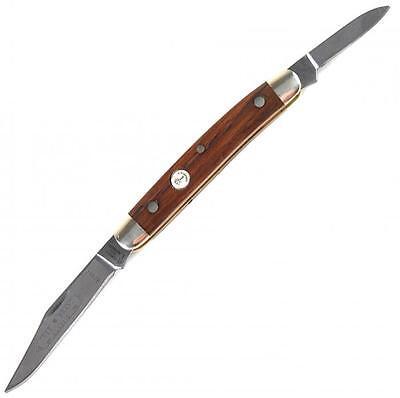 (Boker Small Pen Knife Solingen Carbon Steel Clip and Pen Blades Rosewood Handle)
