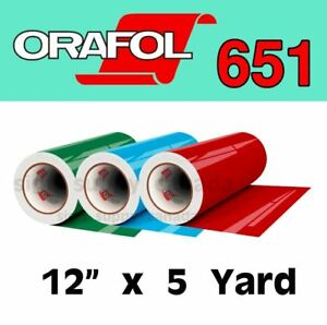 "Oracal 651 Intermediate Permanent Vinyl 12"" x 5 yard"