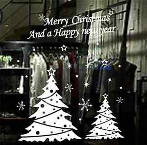 Merry-Christmas-Happy-New-Year-Snowflake-window-Decal-wall-stickers-Removable-UK