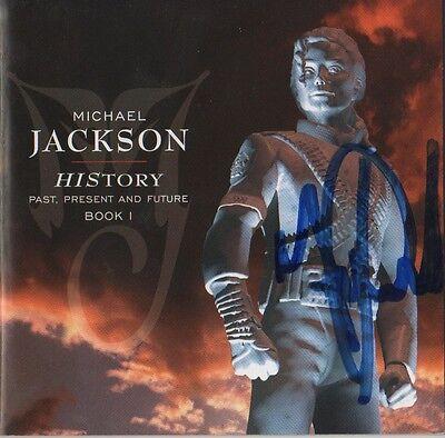 "Michael Jackson Autogramm signed CD Booklet ""History"""