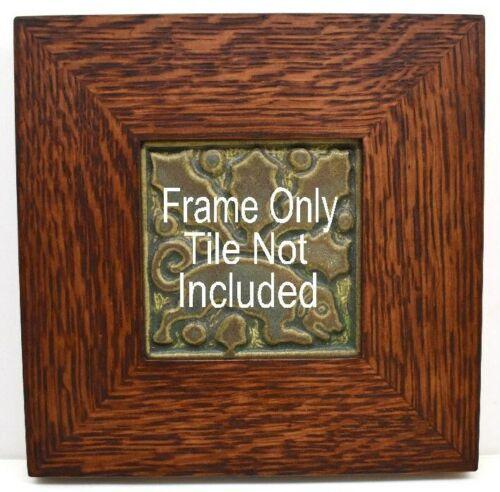4x4 Arts & Crafts Mitered Oak Tile Frame, Motawi, Grueby, Batchelder, etc.