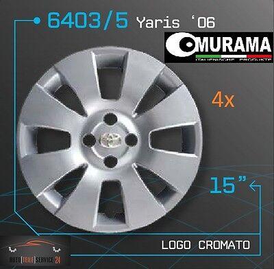 4 Original MURAMA 6403/5 Radkappen für 15 Zoll Felgen TOYOTA YARIS '06 GRAU NEU online kaufen
