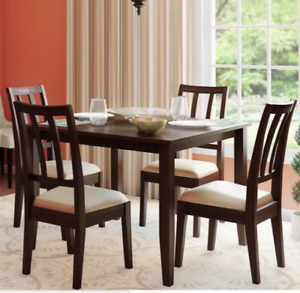 Virtually new kitchen dining table and chairs