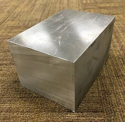 3 34 Thickness 7050 Aluminum Plate 3.75 X 4.5 X 6.5 Length
