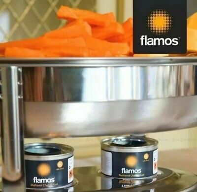Flamos Ethanol Gel Chafing Fuel 15 Pack 3 Hour Cans Heat Food Catering Buffet