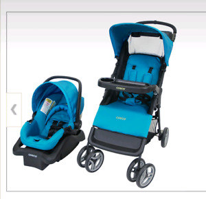 Cosco carseat and stroller.