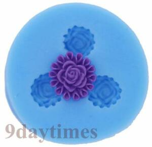 Mini Flower Silicone Mold Mould For Polymer Clay Craft Resin Fimo 12mm A140