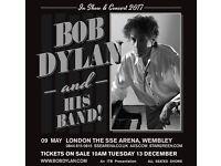 Bob Dylan - 9th of May at SSE Wembley Arena.