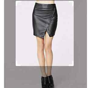 Extra small Dynamite faux leather skirt