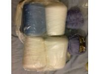 4 Large Spools of Crochet / Knitting Wool