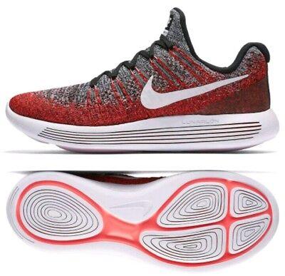 b8ce937761c77 Nike Lunarepic Low Flyknit 2 Black White Hyper Punch Men 863779-005 SZ US  11.5