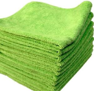 20 pack new microfiber towels cleaning towel plush 16x16 300 gsm lint free green