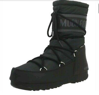 MOON BOOT ® ORIGINALI, STIVALI DA DONNA, MID NYLON WP 001 BLACK, WATERPROOF