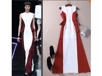 Custom made dress in Red and white