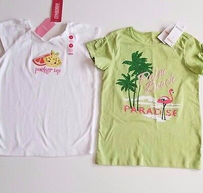 NWT Gymboree Citrus Cooler Palm Beach Paradise Top 8,9 u pick LEMON FLAMINGO