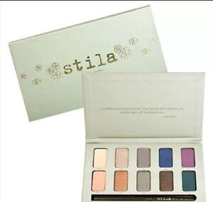 STILA-EYE-SHADOWS-PALETTE-In-The-Garden-Eye-Makeup-w-Starfish-Eye-Liner