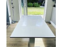 White Gloss Extendable Dining Table
