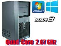 Intel QUAD CORE 2.67GHz , 4GB Ram, 320GB HD, Win 7 Pro