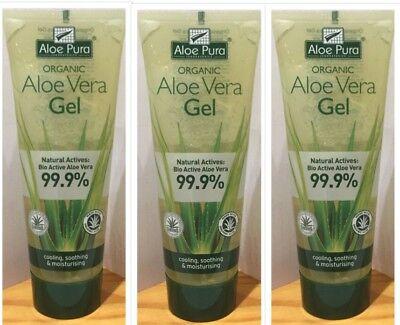 Bioactive Aloe (3x Aloe Pura Aloe Vera Gel Natural Actives: Bio Active 99.9% Moisturising 100ml)