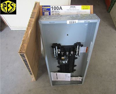NEW SQUARE D QO327M100 W/COVER! 3 PHASE 27 CKT 100 AMP MAIN BREAKER INDOOR PANEL