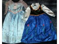 Pair of Frozen dresses for dressing up. Age 5-6 and 3-4